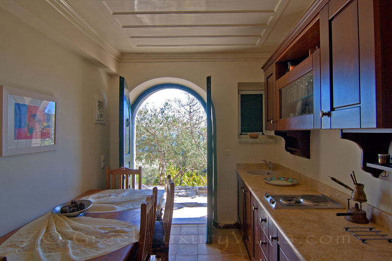 Aspect of the kitchen of traditional villa on Lefkada