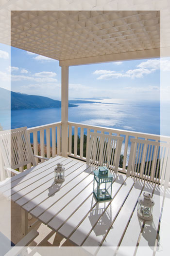 Villa Rainbow, a 3-bedroom luxury villa with private pool and stunning view on Lefkas