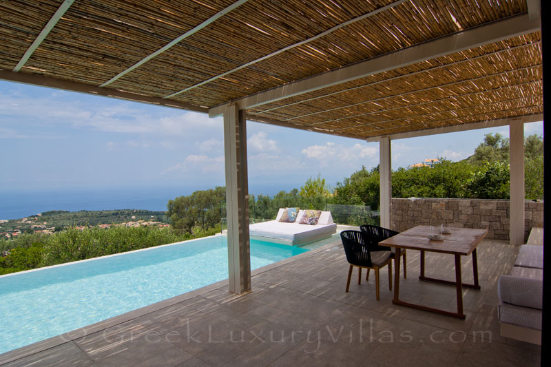 Modern villa in Lefkas with pool and seaview