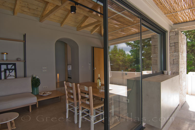 Breakfast in modern villa on Lefkas