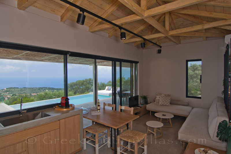 Seaview from modern villa in Lefkas