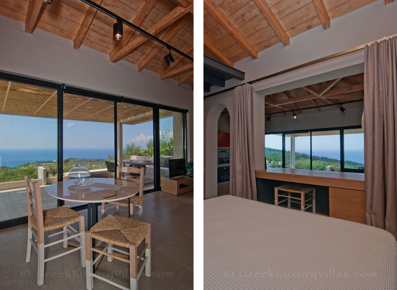 Seaview from bedroom in villa for two