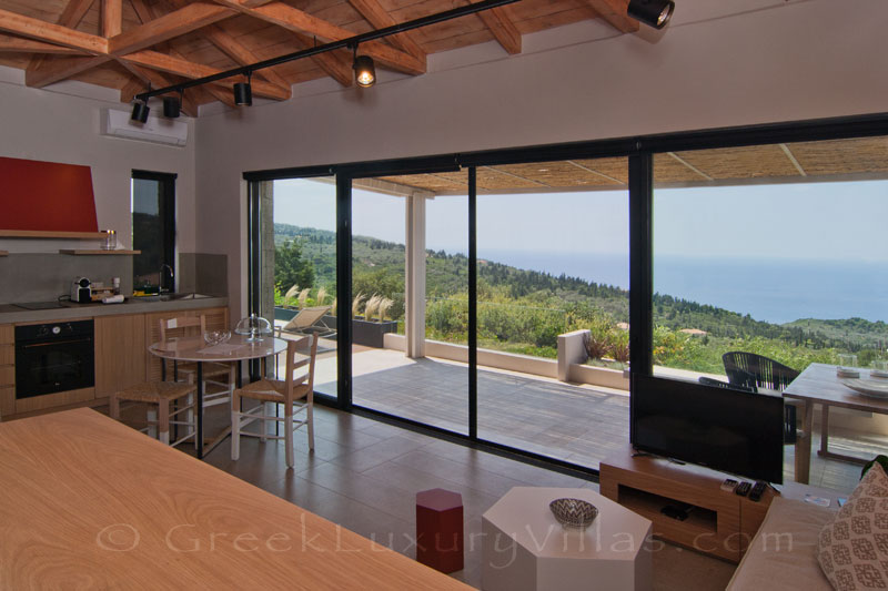 Seaview from villa for couples in Lefkas