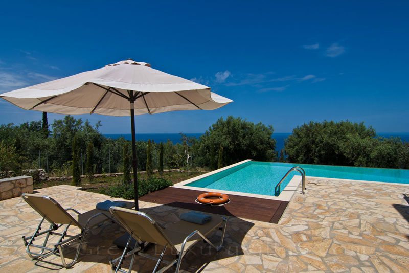 Seaview from a villa with a pool in Lefkada