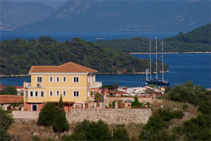 A luxurious villa with stunning view on Lefkas