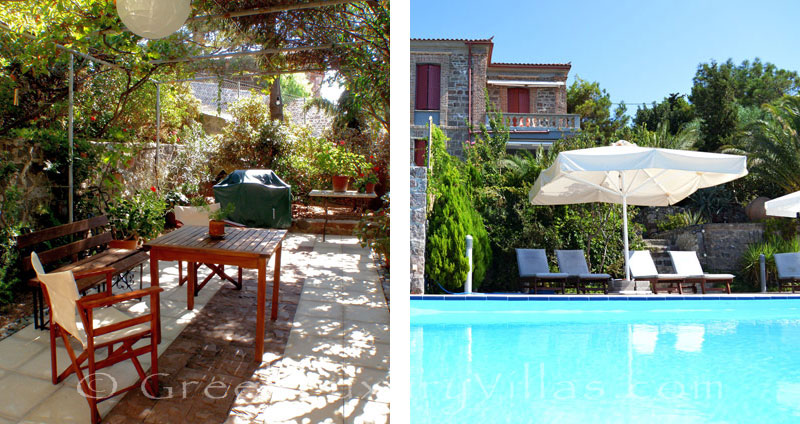 Lesvos traditional villa with pool in Molivos