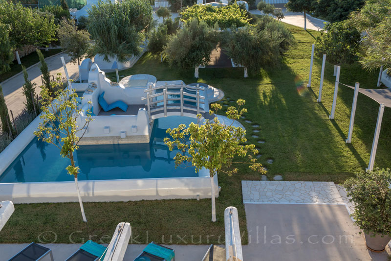 A luxury villa with a pool in Naxos, Greece