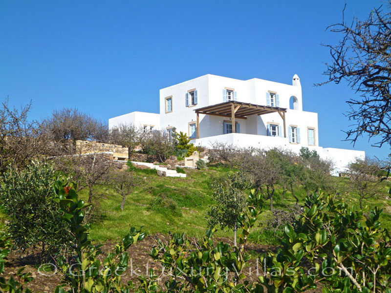 A beachfront villa in Patmos
