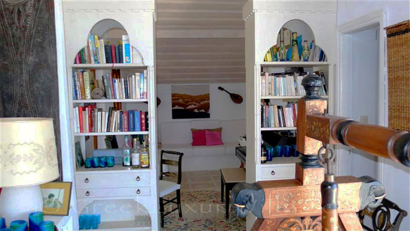 The living-room of the beachfront villa in Paxos