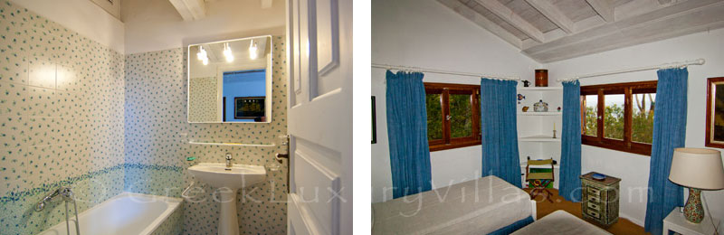 A bedroom with seaview in the beachfront villa in Paxos
