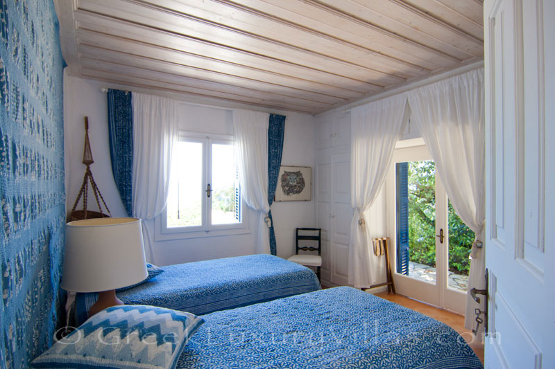 Seaview from a bedroom of a beachfront villa in Paxos