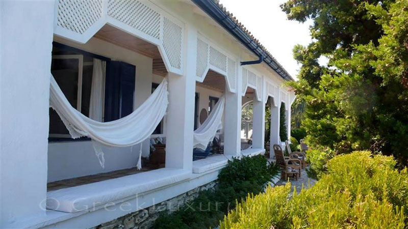 The beachfront villa in Paxos