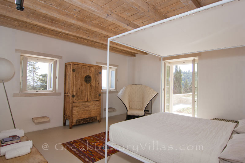 A bedroom in a hiltop estate in Paxos