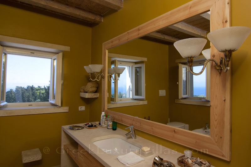 A bathroom in a hiltop estate in Paxos