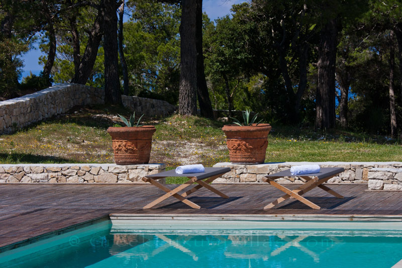 A hiltop estate with a pool in Paxos