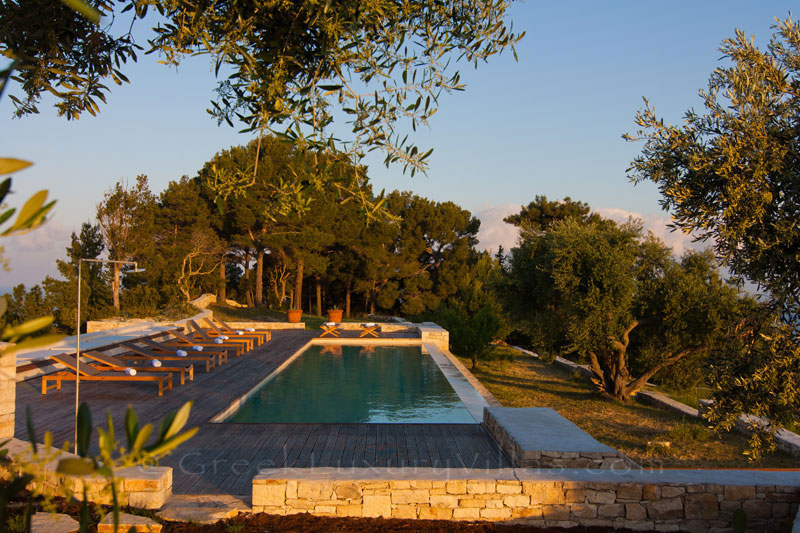 Seaview from the pool of a hiltop estate in Paxos