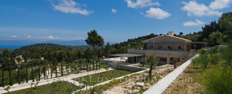A hiltop estate in Paxos with amazing view