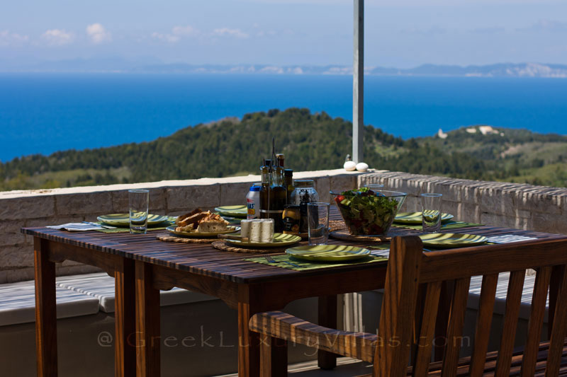 Hiltop estate in Paxos with amazing sea view