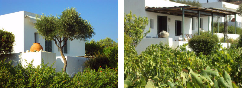 Beach bungalows with sea view in Peloponnese