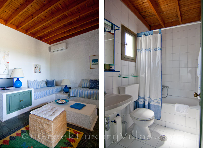 The cheerful atmosphere of the beach bungalows in Peloponnese