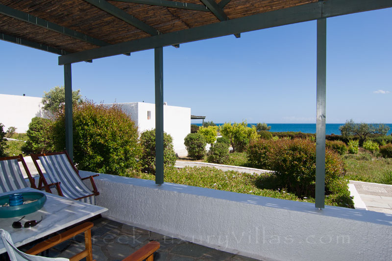 Seaview from the verandah from the beach bungalows in Peloponnese