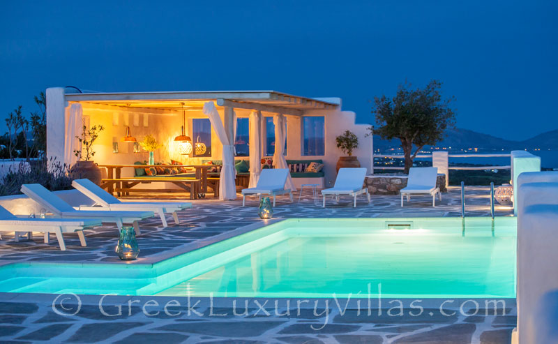 The luxury villa with a pool in Rhodes
