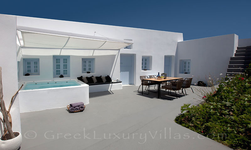 A contemporary luxury villa in Santorini