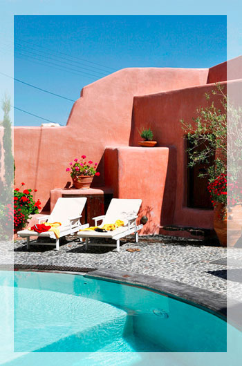 Beautifully restored villa with pool on Santorini, Greece