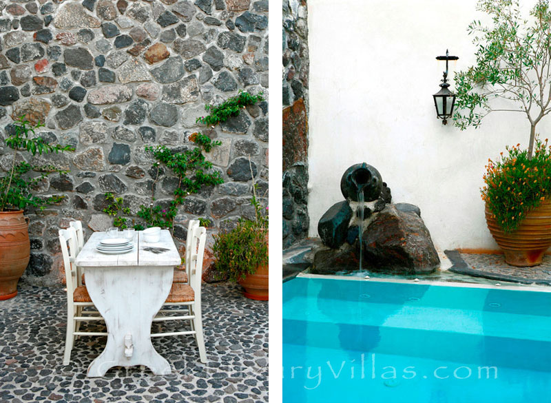 A stone house villa for two with a private pool in Santorini