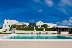 Modern Luxury Villa with Heated Pool and Residential Recording Studio on Santorini