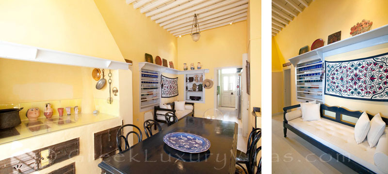 The kitchen of an exquisite traditional villa in Sifnos