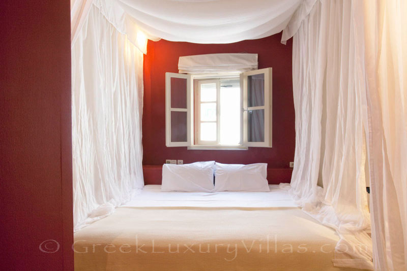 A bedroom in the exquisite traditional villa in Sifnos