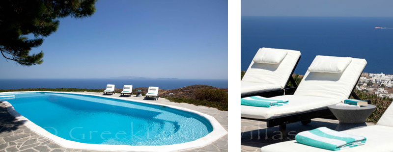 An exquisite traditional villa with a pool and seaview in Sifnos