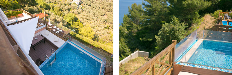 Skiathos luxurious holiday house with plunge pool sea view