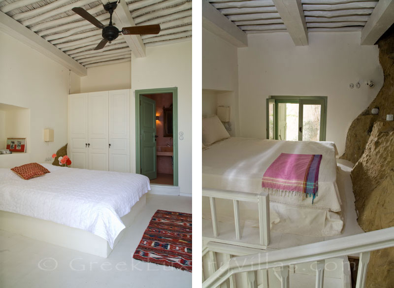 Skyros traditional luxury villa in Chora bedroom