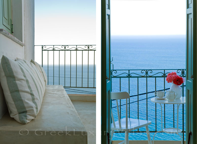 Skyros traditional luxury villa in Chora sea view