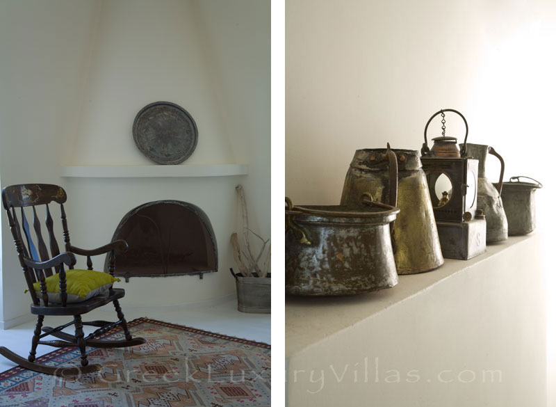 Skyros traditional luxury villa in town detail
