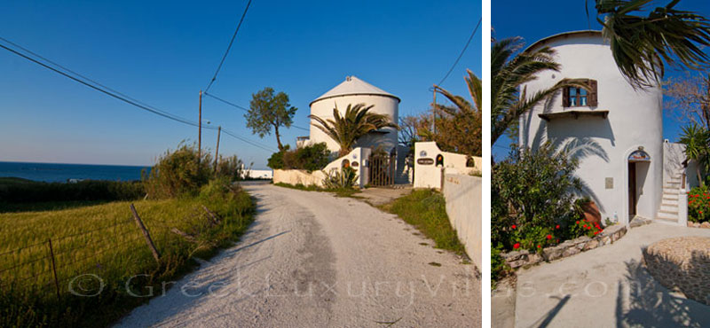 Windmill near the beach in Skyros