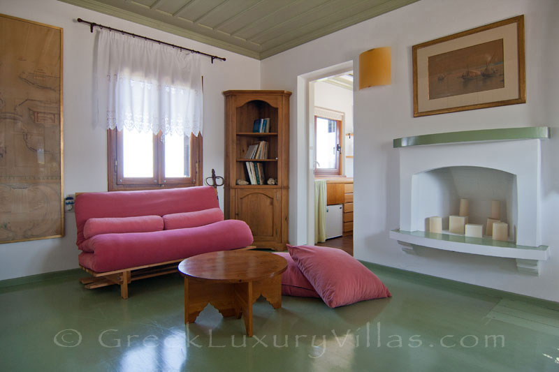 Master suite of beachfront villa in Skyros