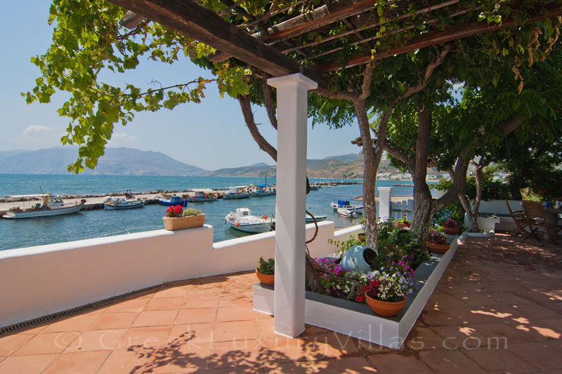 Sea view of waterfront villa in Skyros