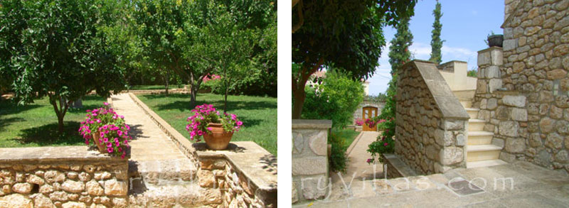 The garden in a traditional villa in Spetses