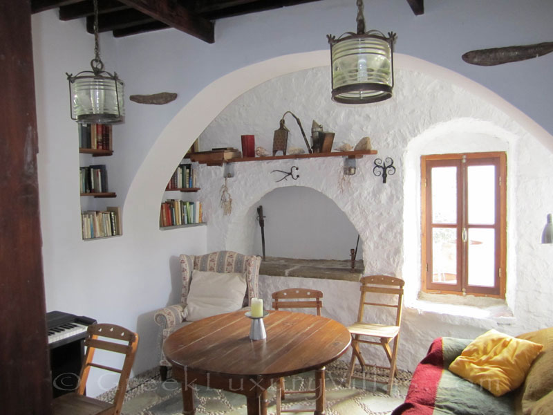 Cozy atmosphere of traditional villa on Symi