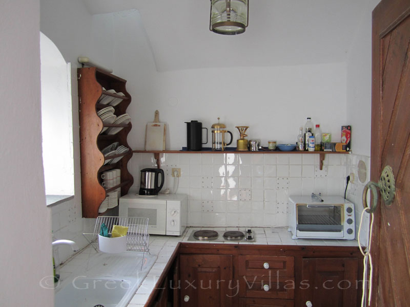 Kitchen of neoclassical villa in Symi