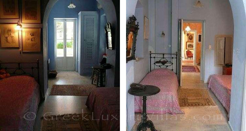 Traditional interior of villa for large groups on Syros