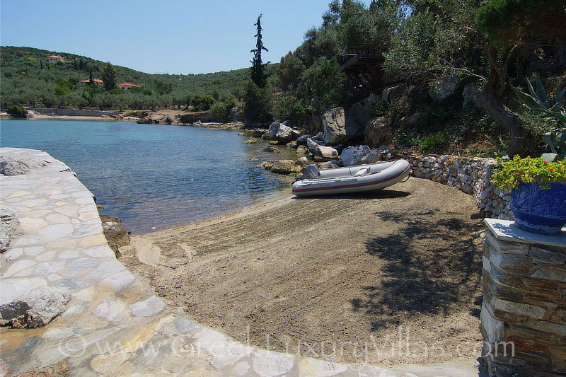 luxurious seafront villa with private beach boat private sandy beach