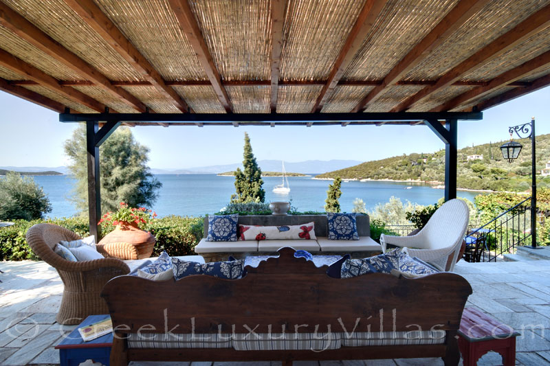 sea view from luxury villa with private beach boat chef butler