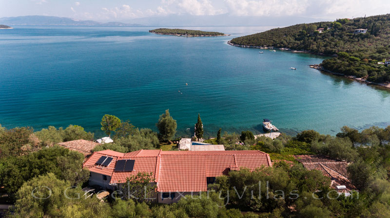 luxurious waterfront villa with private beach boat chef butler sea view