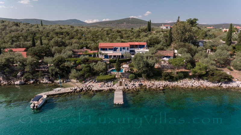 almyros elegant villa with private beach boat chef butler waterfront
