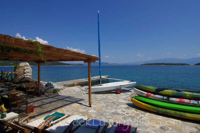 exclusive seafront villa with private beach boat kayak water sports