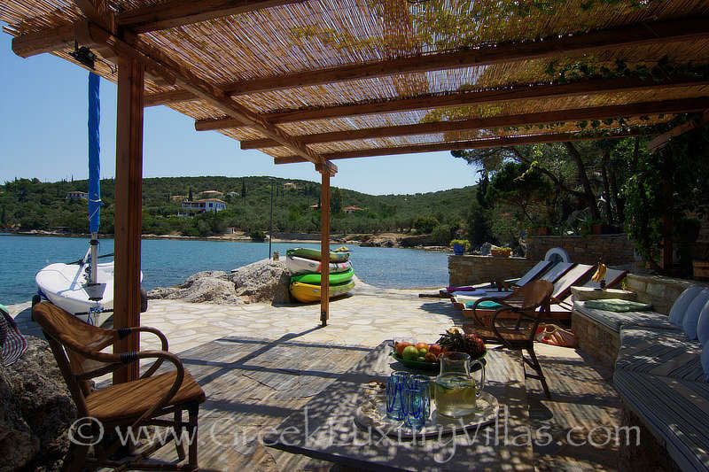 almyros elegant seafront villa with private beach boat private beach